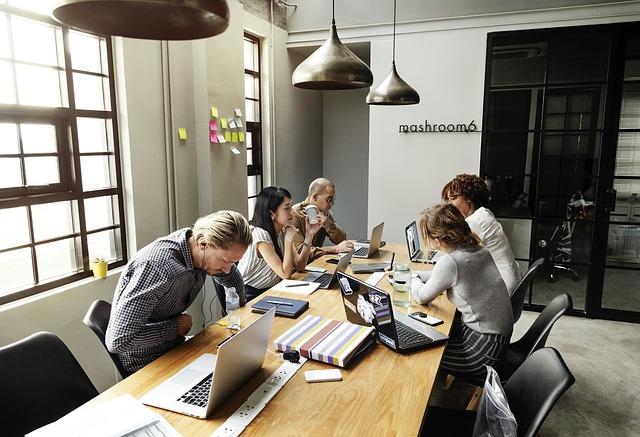 מחשבים, עבודה, שולחן, פגישה
